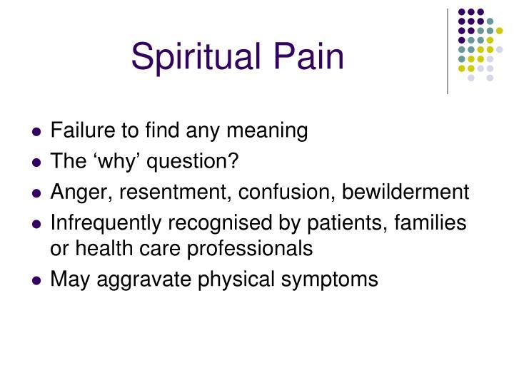 Spiritual Pain