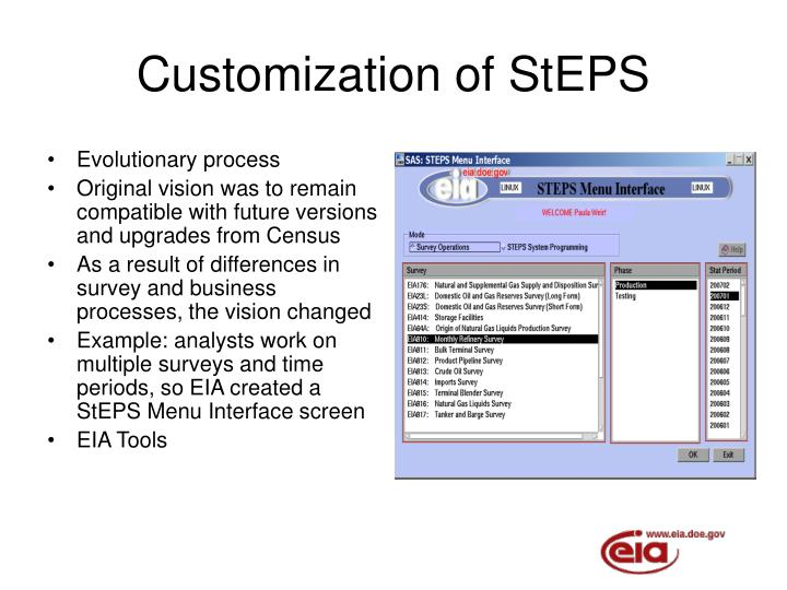 Customization of StEPS