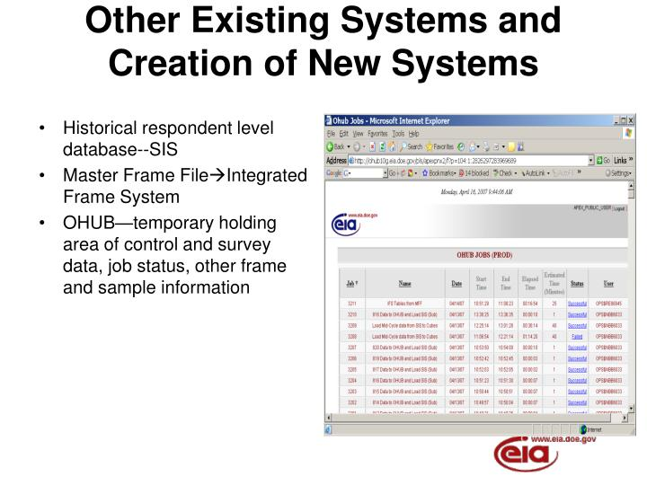 Other Existing Systems and
