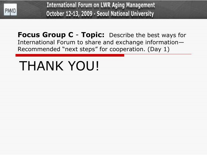 Focus Group C