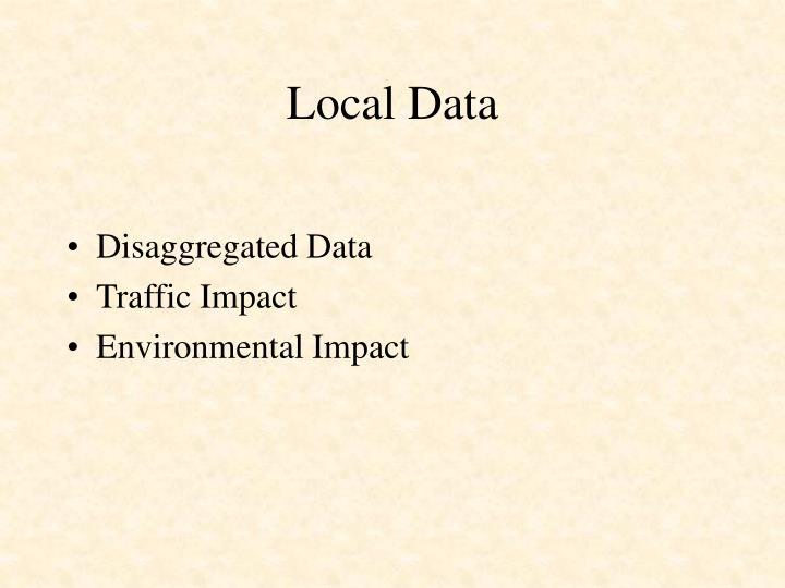 Local Data