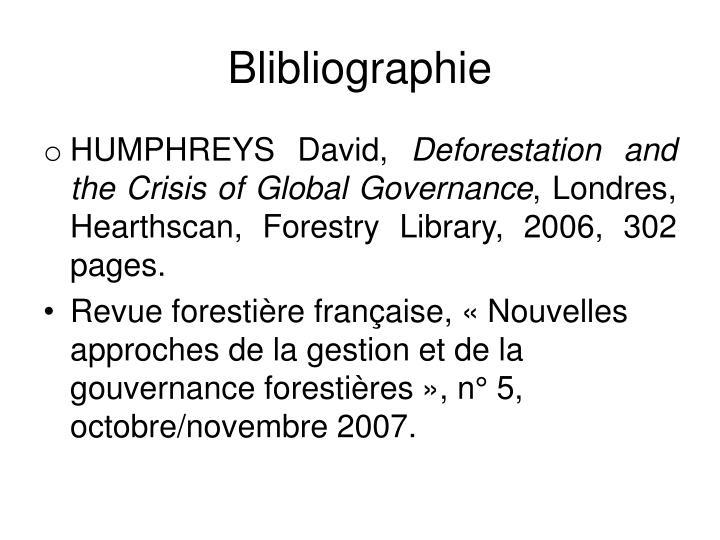 Blibliographie