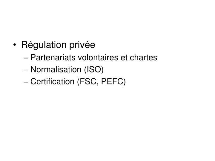 Régulation privée