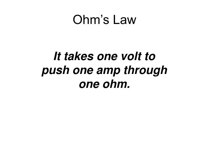 Ohm s law2
