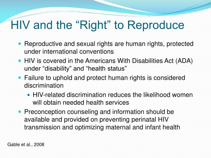 "HIV and the ""Right"" to Reproduce"