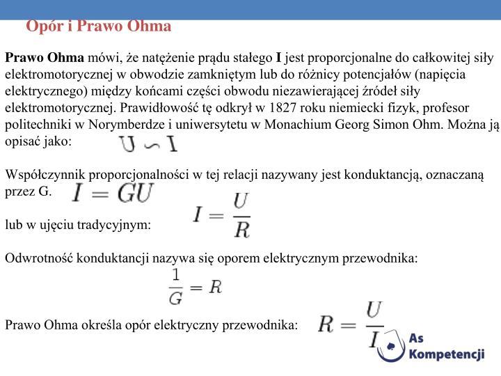 Opór i Prawo Ohma