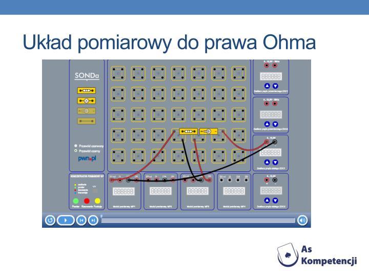 Układ pomiarowy do prawa Ohma