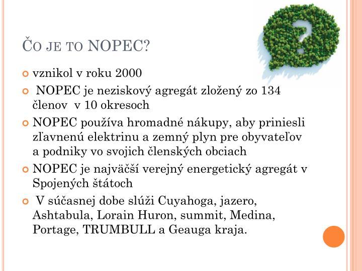 Čo je to NOPEC?