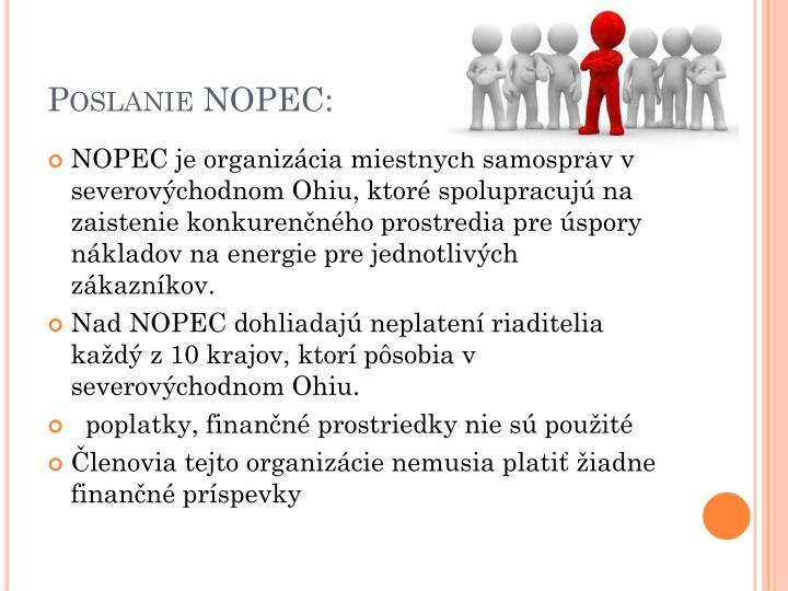 Poslanie NOPEC: