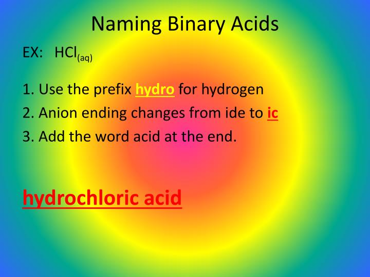Naming Binary Acids