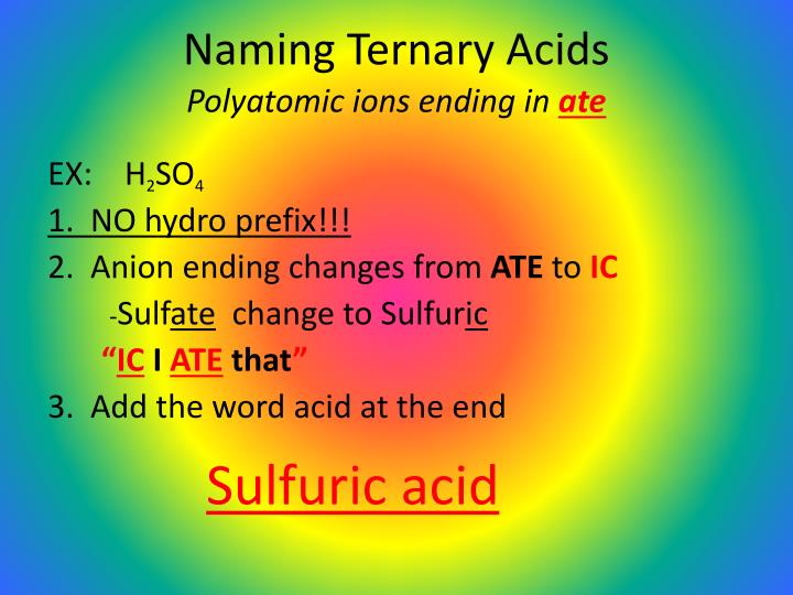 Naming Ternary Acids