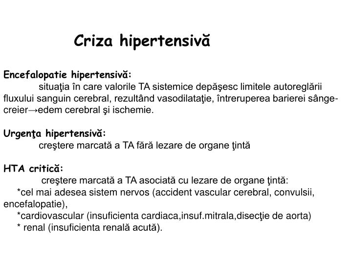 Criza hipertensivă