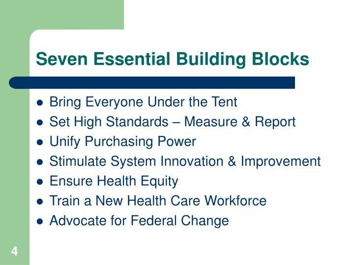 Seven Essential Building Blocks