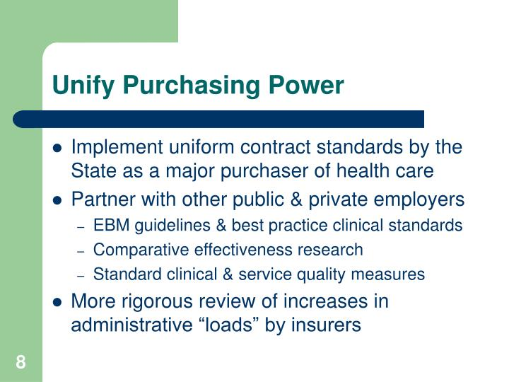 Unify Purchasing Power