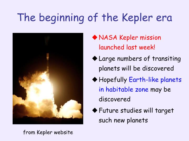 NASA Kepler mission launched last week!