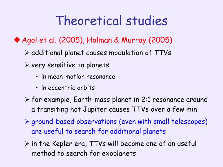Theoretical studies