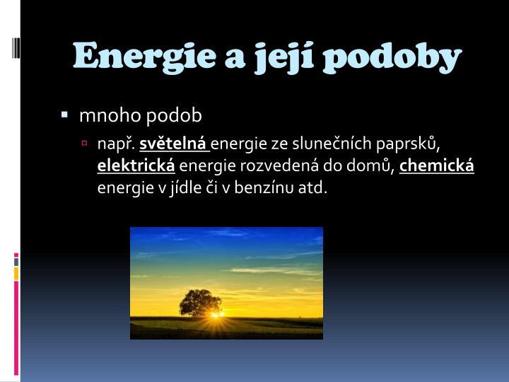 Energie a její podoby