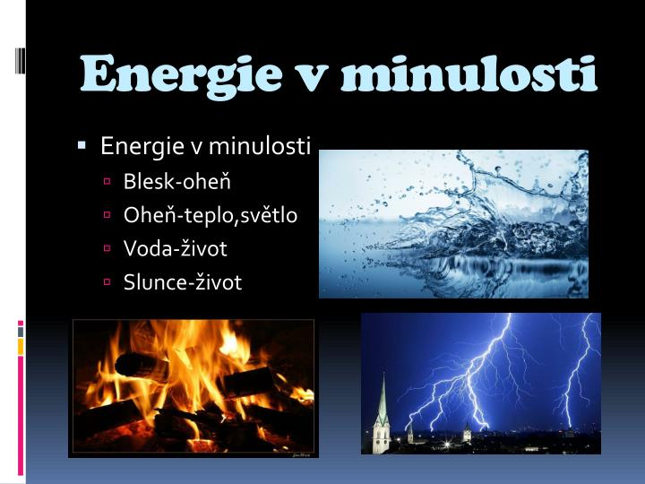 Energie v minulosti