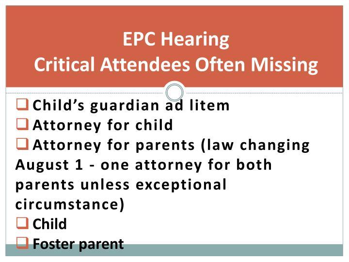 EPC Hearing
