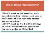out of home placement plan