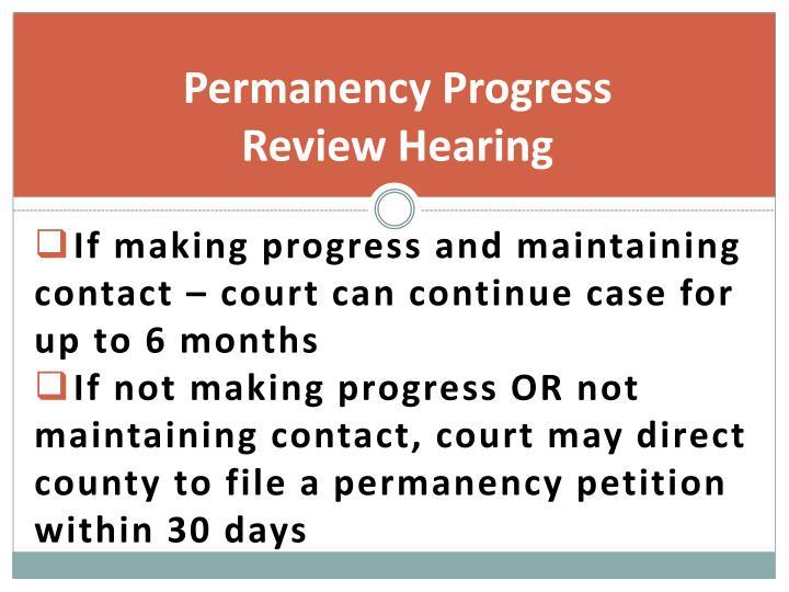 Permanency Progress