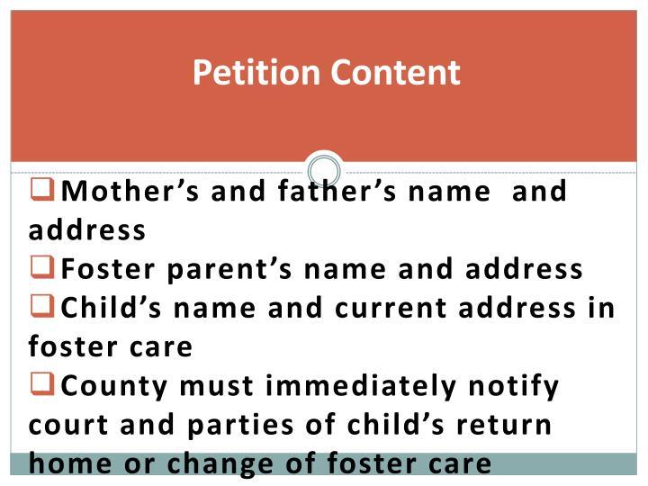 Petition Content