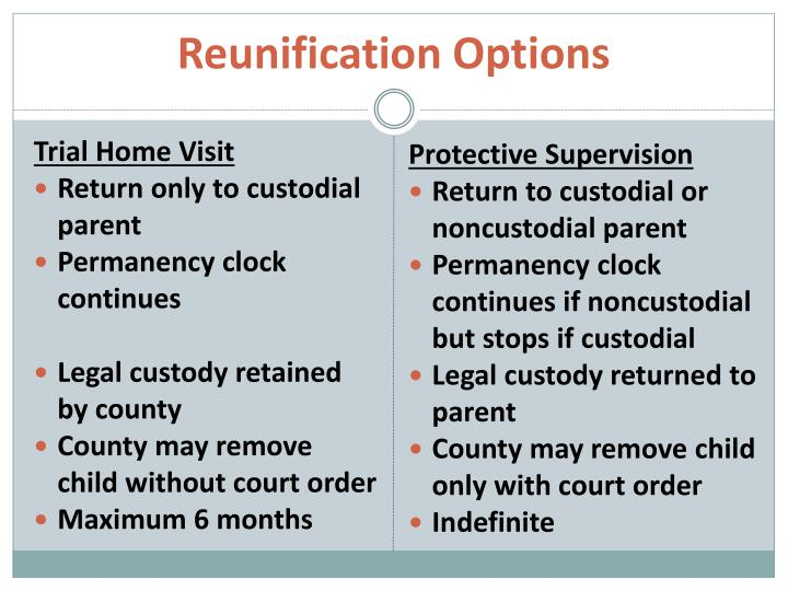 Reunification Options
