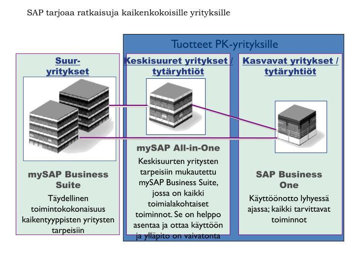 SAP tarjoaa ratkaisuja kaikenkokoisille yrityksille