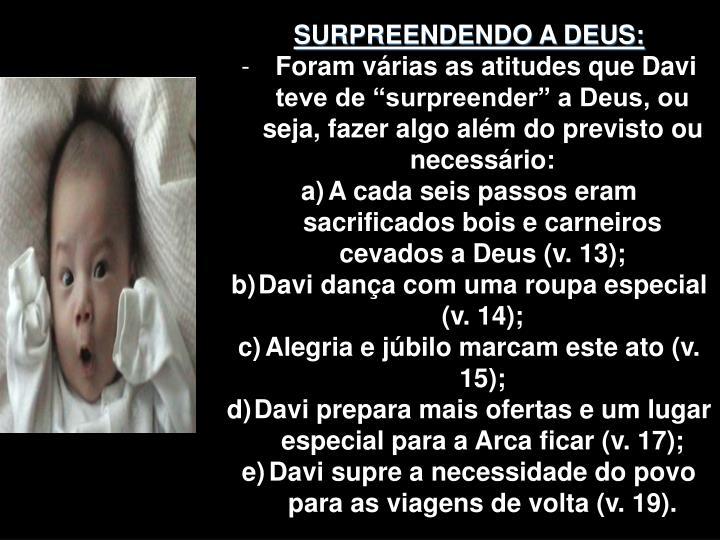 SURPREENDENDO A DEUS: