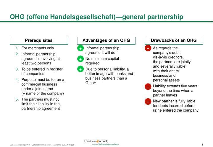 OHG (offene Handelsgesellschaft)—general partnership