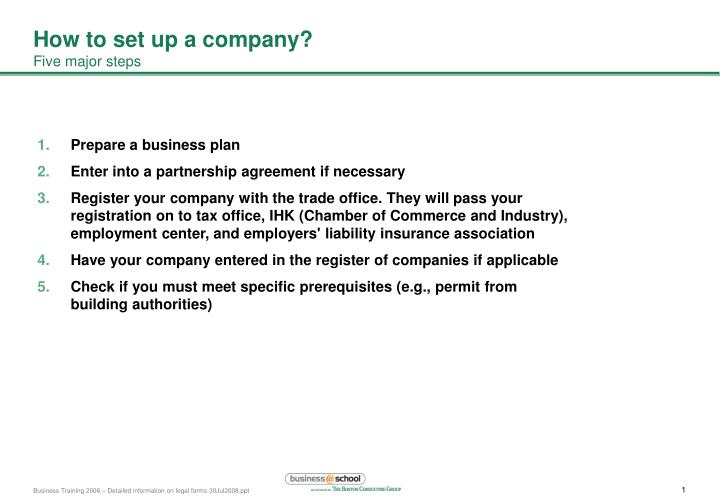 How to set up a company?