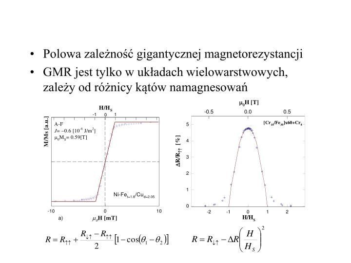 Polowa zależność gigantycznej magnetorezystancji