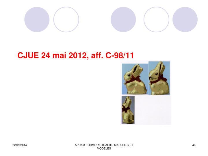 CJUE 24 mai 2012, aff. C-98/11