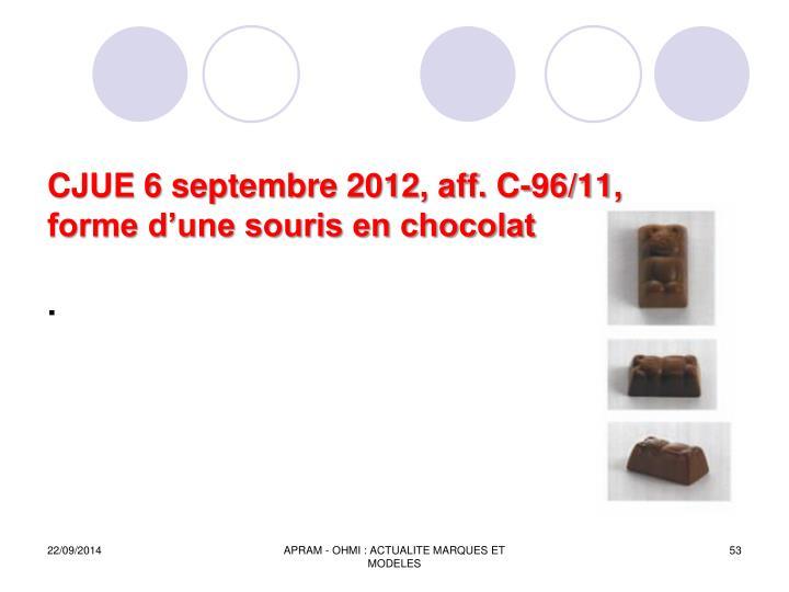 CJUE 6 septembre 2012, aff. C-96/11,
