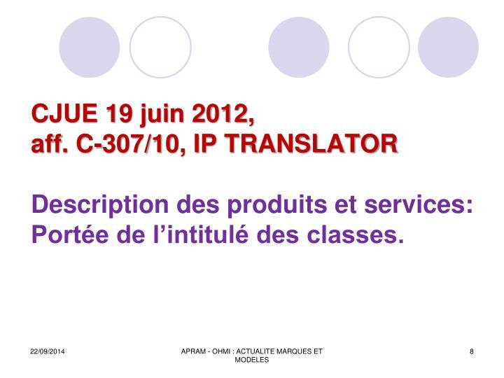 CJUE 19 juin 2012,