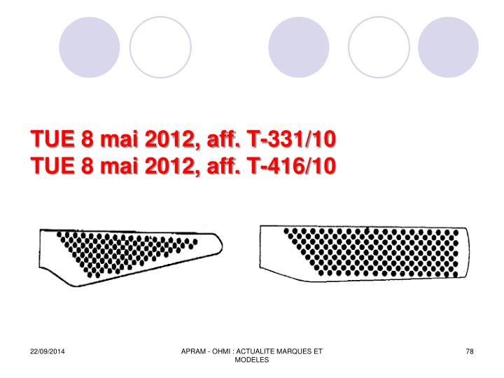 TUE 8 mai 2012, aff. T-331/10