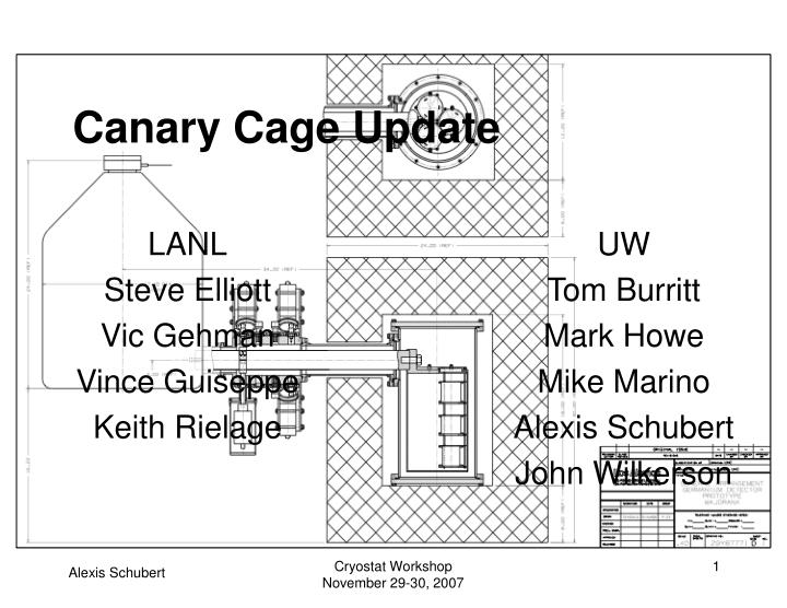 Canary cage update