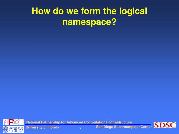 How do we form the logical namespace?
