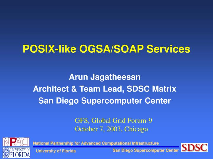 Posix like ogsa soap services