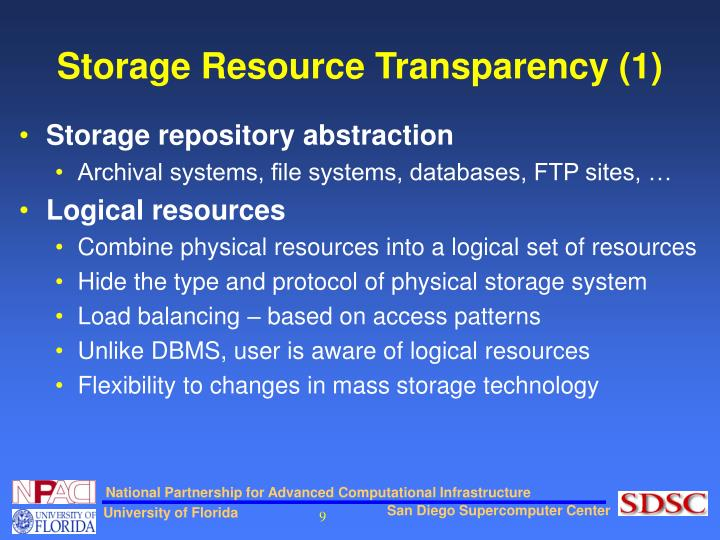 Storage Resource Transparency (1)