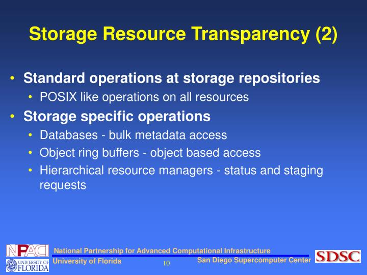 Storage Resource Transparency (2)