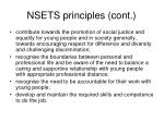 nsets principles cont