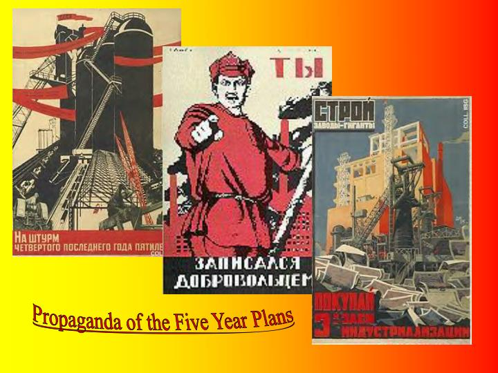Propaganda of the Five Year Plans