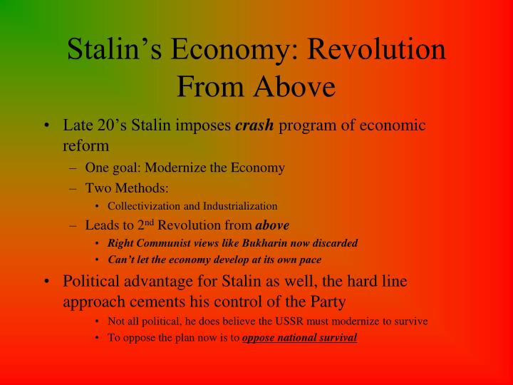 Stalin s economy revolution from above