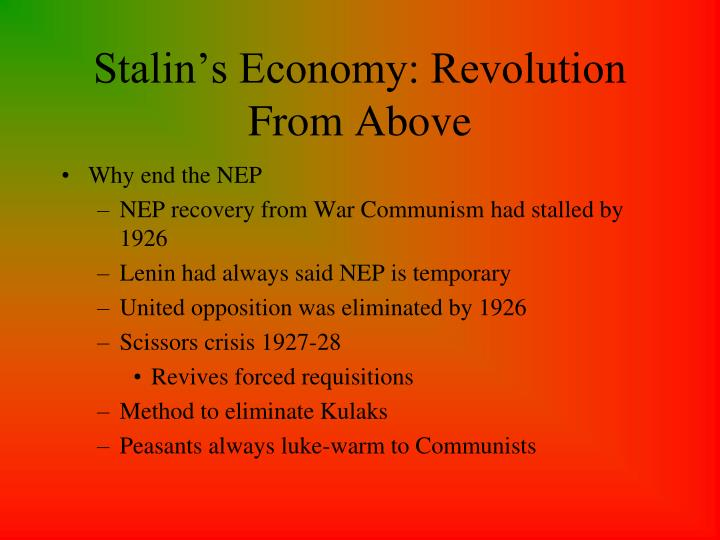 Stalin's Economy: Revolution From Above