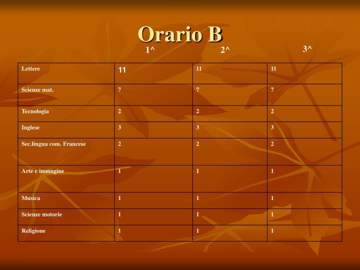 Orario B