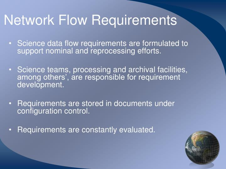 Network Flow Requirements