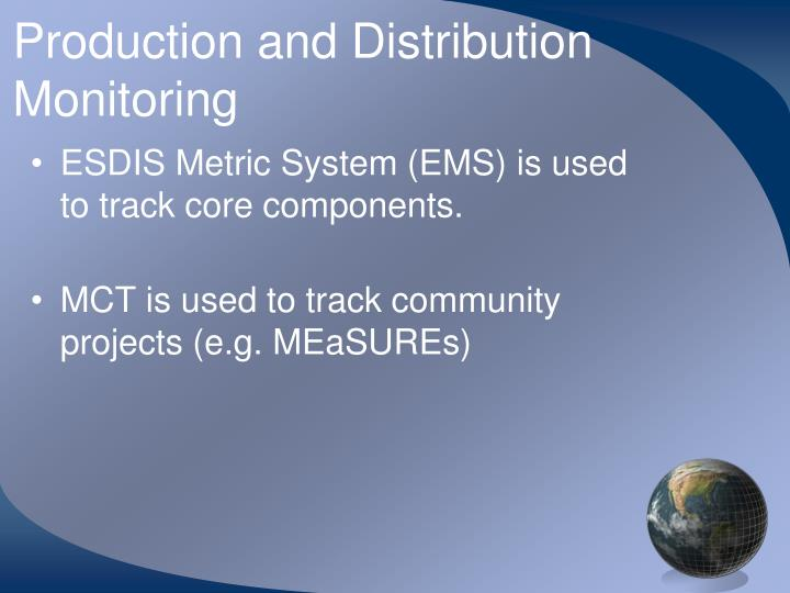 Production and Distribution Monitoring