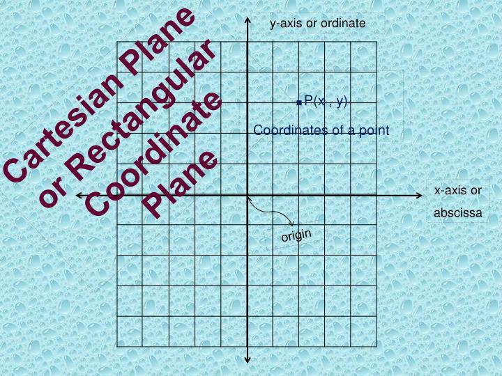 y-axis or ordinate