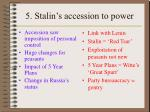 5 stalin s accession to power